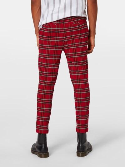 Pantaloni Urban Classics pe roșu / negru: Privire spate