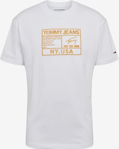 Tommy Jeans T-Shirt 'TJM GOLD EMBROIDERY LOGO TEE' in weiß, Produktansicht