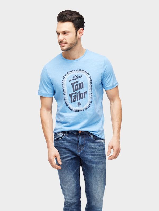 Tom Tailor Shirt With Magazine-print