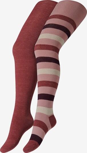 camano Strumpfhose in rosa / weinrot / pastellrot / weiß, Produktansicht