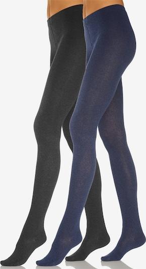 ROGO Strumpfhose in dunkelblau / schwarz, Produktansicht