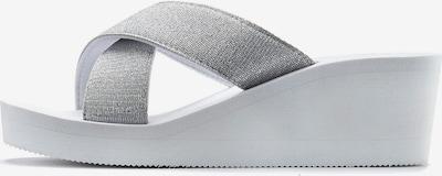 LASCANA Pantoletten in silber, Produktansicht