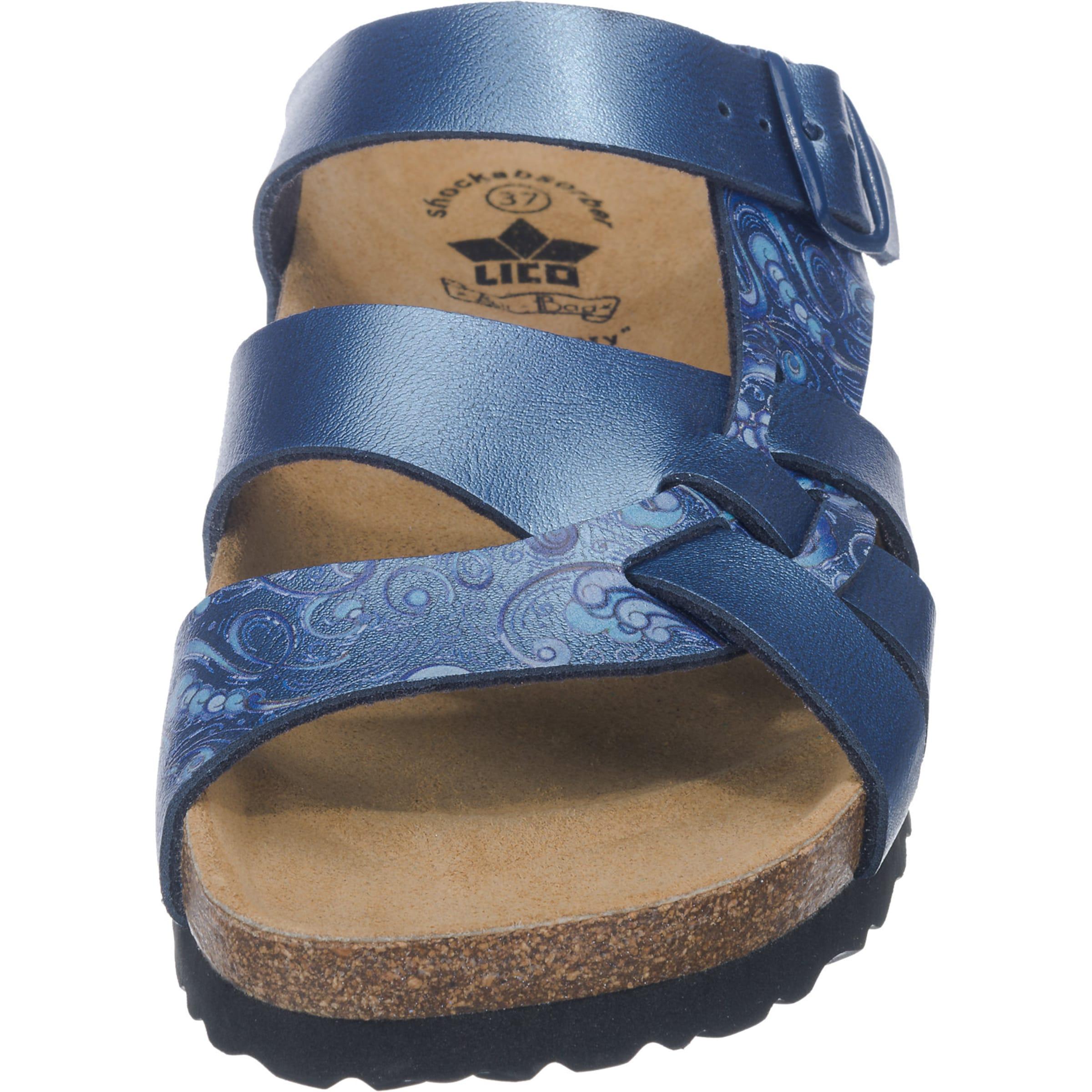 Blau In Flora Lico Pantoletten Bioline YeWH9bD2IE