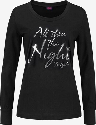 BUFFALO Langer Pyjama in schwarz / weiß, Produktansicht