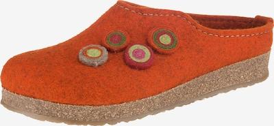 HAFLINGER Pantoffeln 'Grizzly Kanon' in orange, Produktansicht