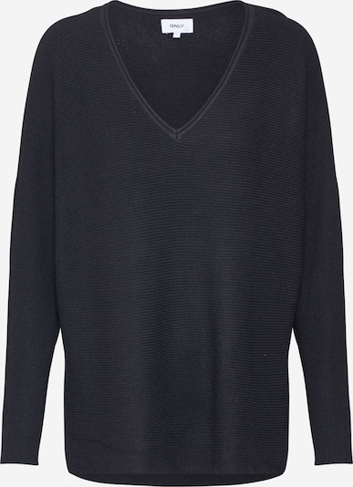 ONLY Trui 'ONLHERO LIFE L/S V-NECK PULLOVER KNT' in de kleur Zwart, Productweergave
