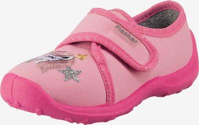 Fischer-Markenschuh Hausschuh 'Einhorn' in pink / rosa / silber, Produktansicht