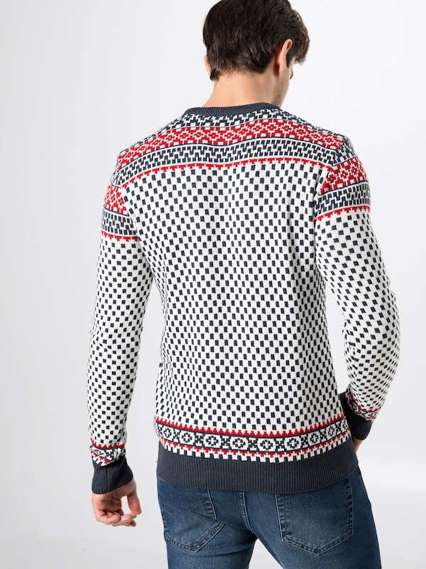 Pull 'knitTobey' solid En over RougeNoir Blanc BotQCxrshd