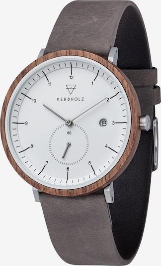 Kerbholz Uhr 'Anton' in dunkelgrau, Produktansicht