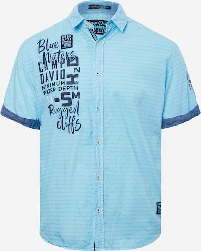 CAMP DAVID Hemd in azur / dunkelblau, Produktansicht