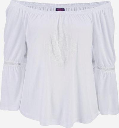 BUFFALO Strandshirt mit dezentem Frontdruck in weiß, Produktansicht