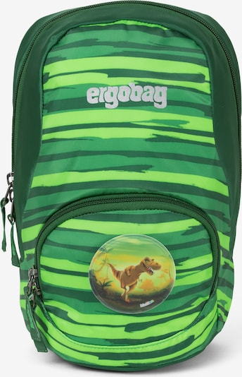 ergobag Kinderrucksack 'Ease' in grün / hellgrün / dunkelgrün, Produktansicht