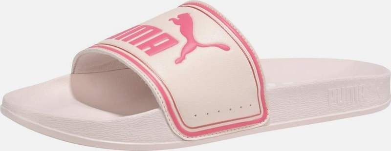 PUMA Badesandale 'Leadcat' in pink / rosa: Frontalansicht