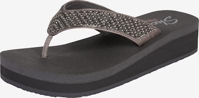 SKECHERS Séparateur d'orteils 'Thong Yoga' en gris argenté, Vue avec produit