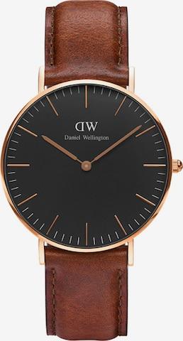 Daniel Wellington Analog Watch 'Black St Mawes' in Brown