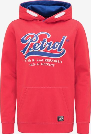 Petrol Industries Hoodie in blau / rot, Produktansicht