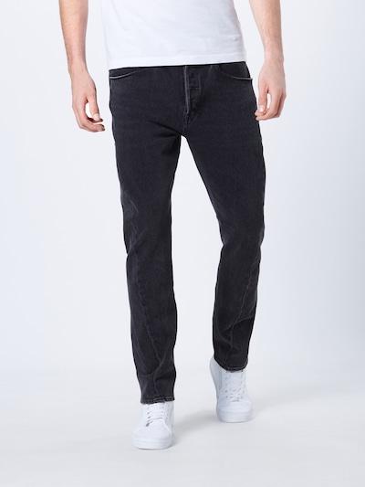 LEVI'S Jeans 'LEJ 502 Reg Taper' in black denim: Frontalansicht