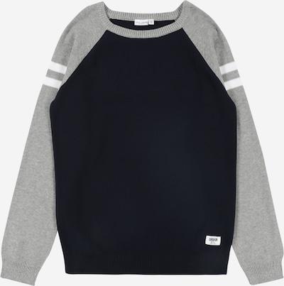 NAME IT Pullover in graumeliert / schwarz / weiß, Produktansicht