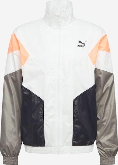 PUMA Tussenjas in de kleur Grijs / Sinaasappel / Zwart / Wit, Productweergave