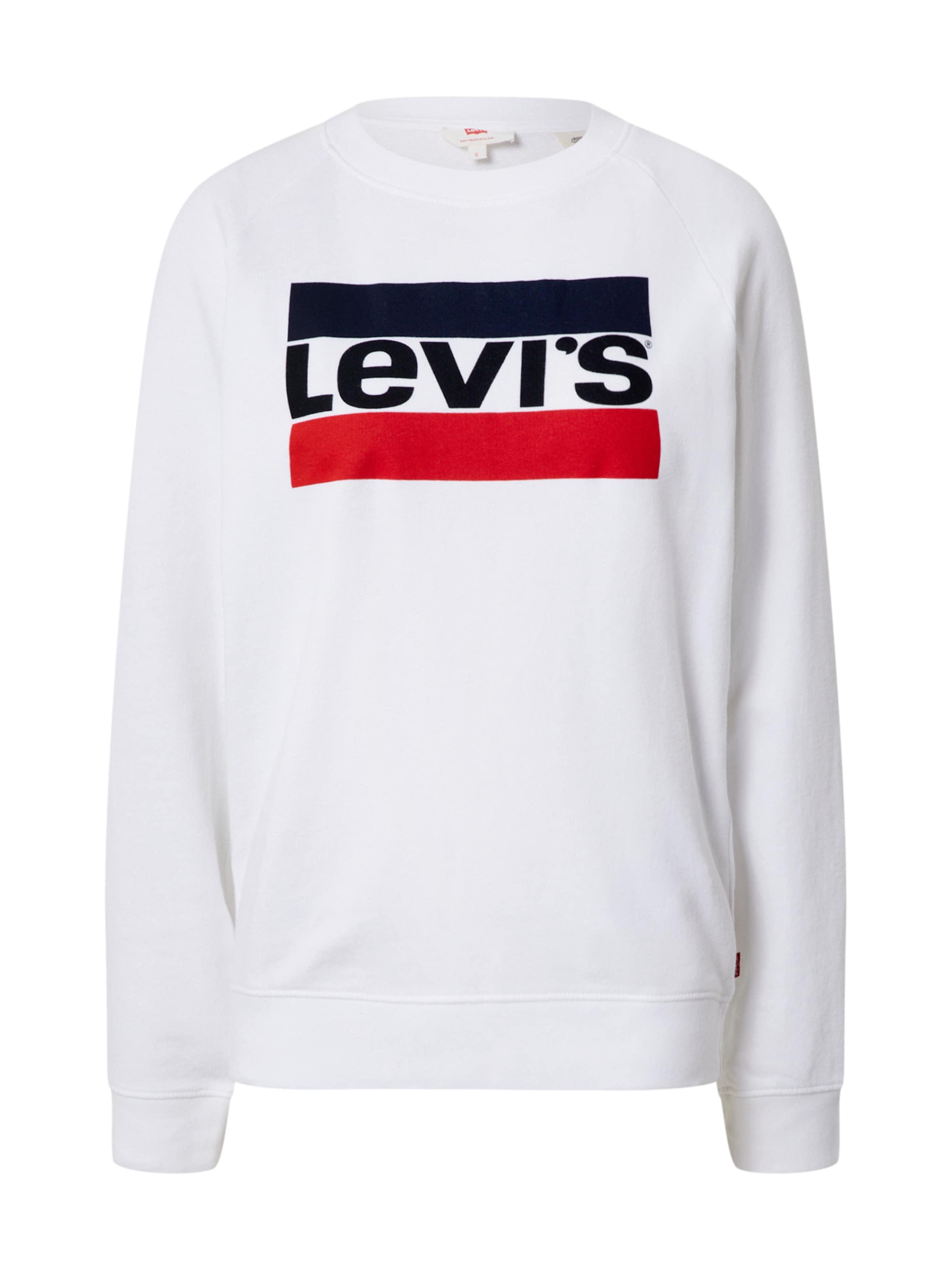 LEVI'S Sweatshirt 'RELAXED GRAPHIC CREW' i vit