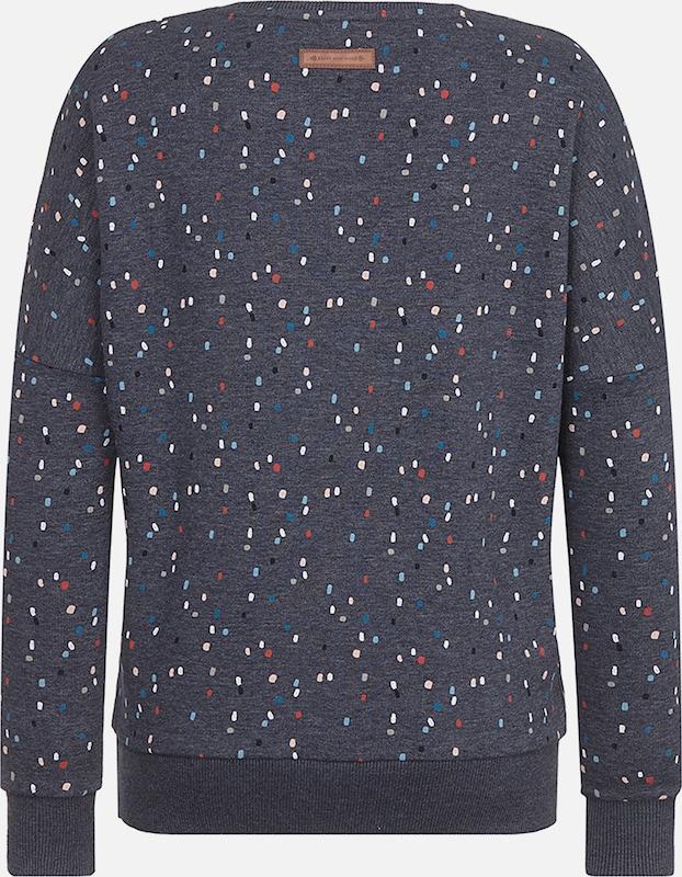 naketano Sweatshirt 'Möhrenkomplott' in indigo mischfarben