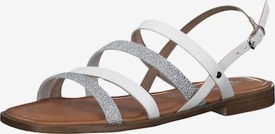 TAMARIS Sandale in silber / weiß, Produktansicht