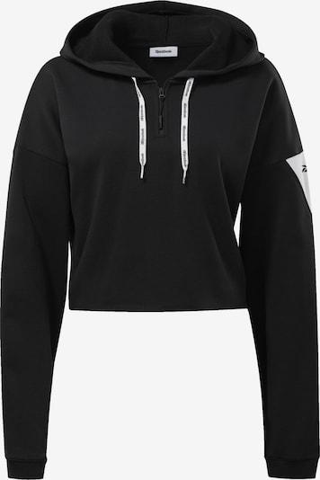 Hanorac sport REEBOK pe negru / alb, Vizualizare produs