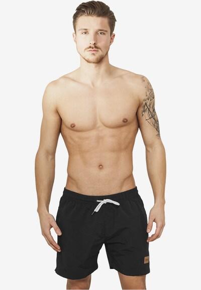 Urban Classics Badeshorts 'Block Swim Shorts' in schwarz: Frontalansicht
