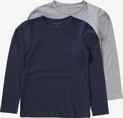 MINYMO Langarmshirt 2er Pack für Jungen in blau, Produktansicht