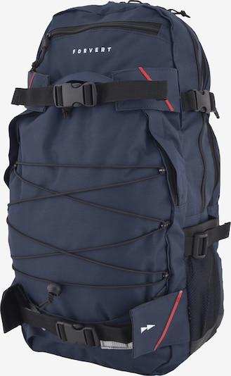 Forvert Sac à dos 'Louis' en bleu marine / rouge / noir / blanc, Vue avec produit