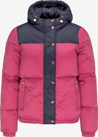 MYMO Veste d'hiver en bleu nuit / rose: Vue de face