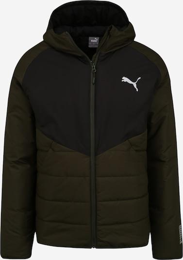 PUMA Winterjas in de kleur Olijfgroen / Zwart, Productweergave