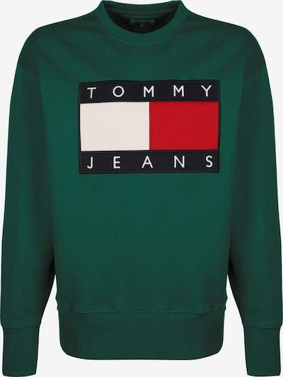 Tommy Jeans Sweater 'Flag' in blau / grün / rot / weiß, Produktansicht