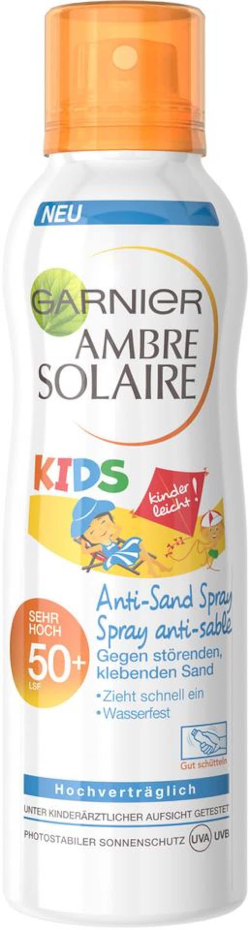 In sand Garnier Anti Ambre Solaire OrangeWeiß 50Sonnenspray Kids Lsf cL3Rq45Aj
