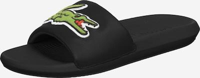 LACOSTE Badeschuhe ' Croco Slide 120 ' in grün / schwarz, Produktansicht