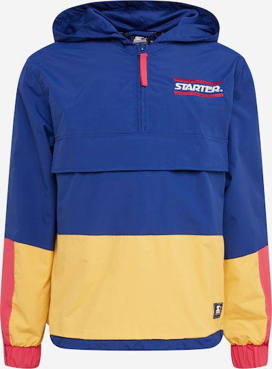 Starter Black Label Jacke 'Starter Multicolored Logo Windbreaker ' in blau / gelb / rot, Produktansicht