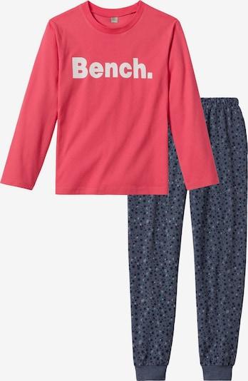 BENCH Pyjama in dunkelblau / koralle, Produktansicht