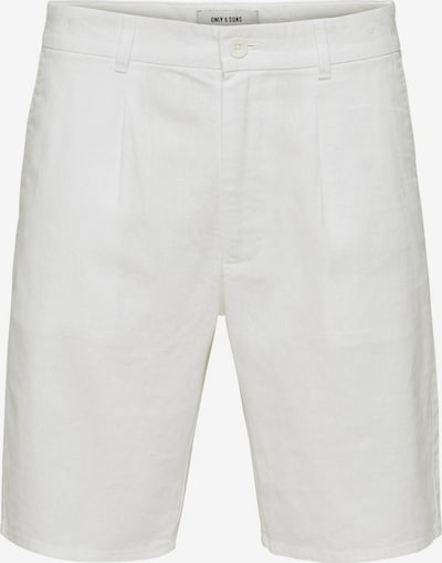 Only & Sons Leinen Shorts in weiß, Produktansicht
