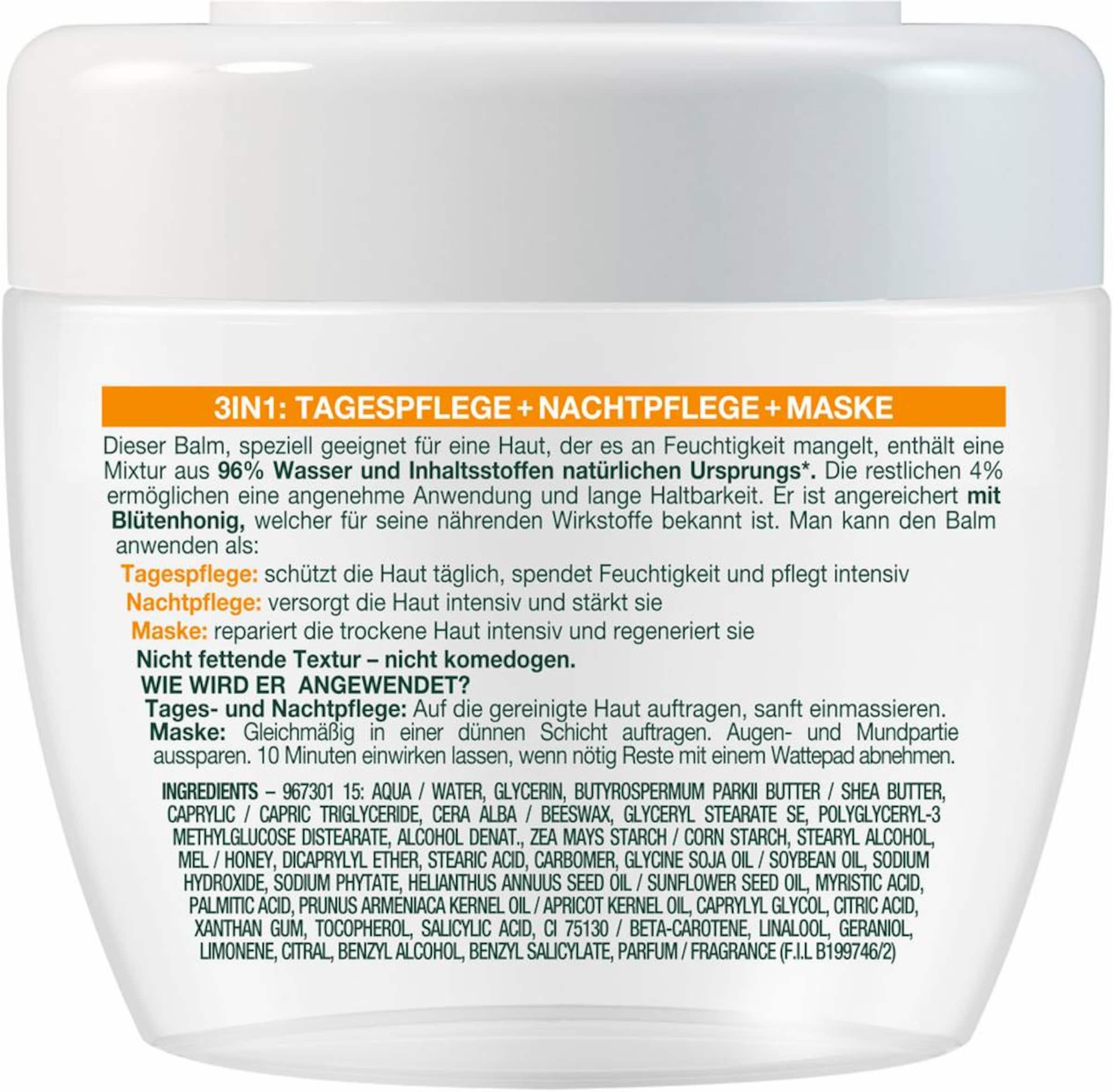 GARNIER Skin Active Botanischer Balm Honig«, Gesichtspflege