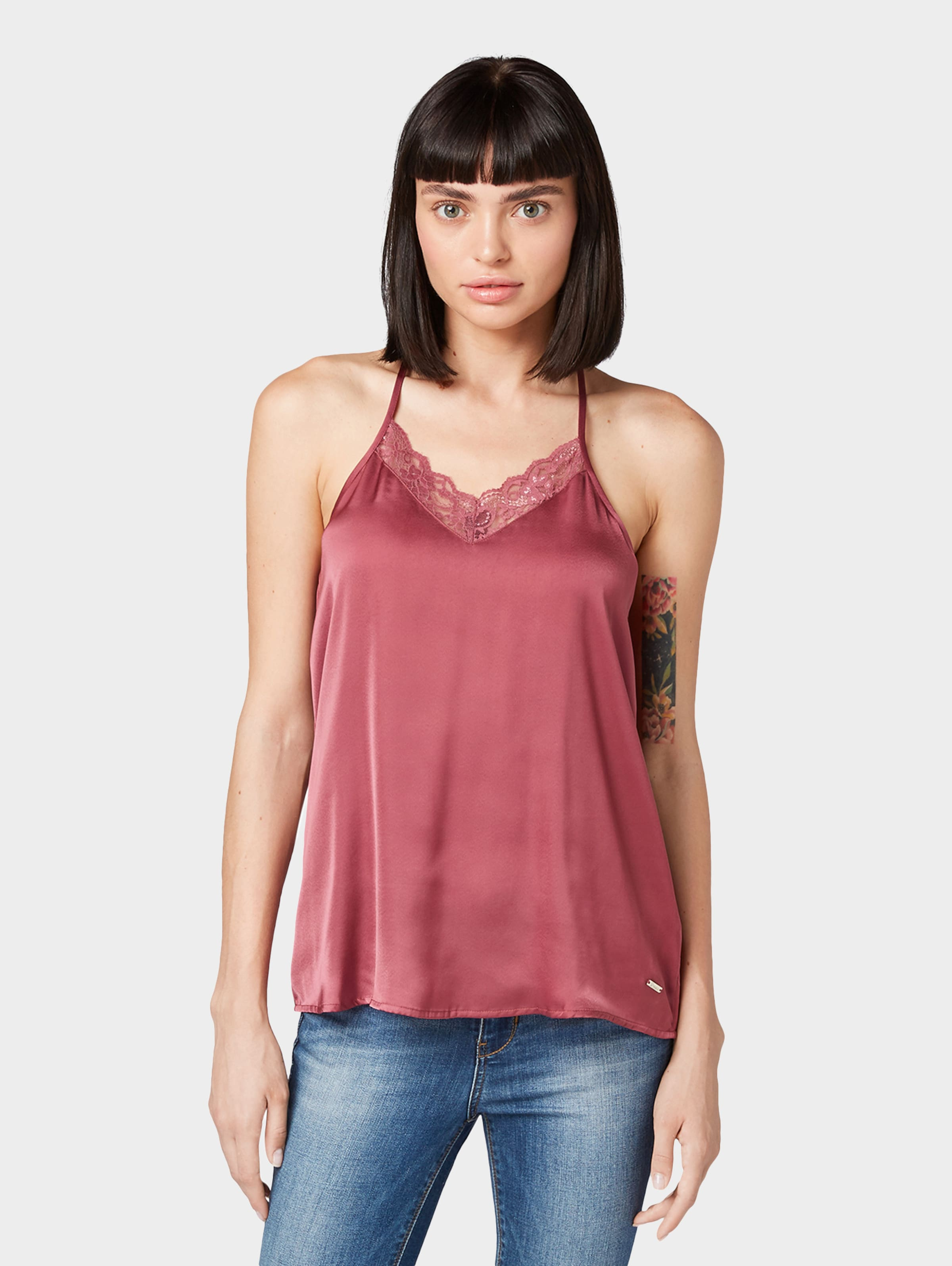 Tailor Denim Top In Tom Bordeaux IW29EDYeH