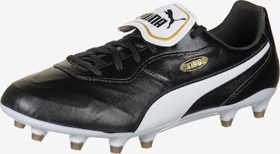 PUMA Voetbalschoen 'King Top FG' in de kleur Goudgeel / Zwart / Wit, Productweergave