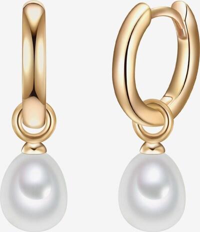 Valero Pearls Creolen in gold / perlweiß, Produktansicht