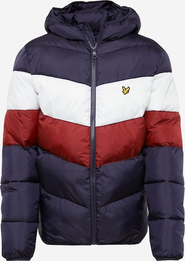 Lyle & Scott Winterjas in de kleur Navy / Roestrood / Wit, Productweergave