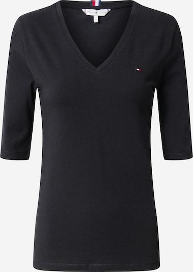 TOMMY HILFIGER Shirt 'Essentials' in de kleur Zwart: Vooraanzicht
