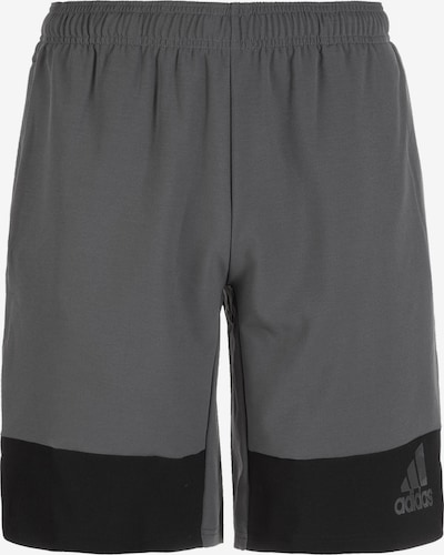 ADIDAS PERFORMANCE Trainingsshort '10-Inch' in grau / schwarz, Produktansicht