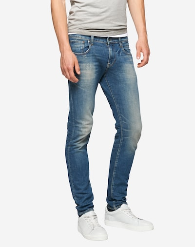 G-Star RAW Jeans 'Revend Super Slim' in blue denim, Modelansicht