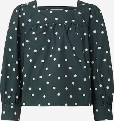 EDITED Bluse 'Cindy' in dunkelgrün / weiß, Produktansicht
