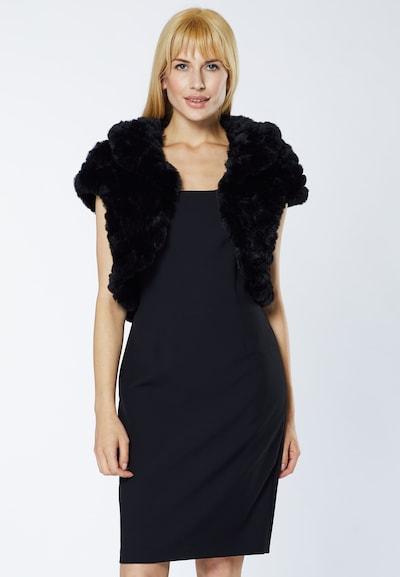 Young Couture by BARBARA SCHWARZER Bolero in de kleur Zwart, Modelweergave