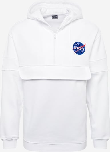 Mister Tee Sweatvest 'NASA Chest Embroidery Pull Over Hoody' in de kleur Wit, Productweergave