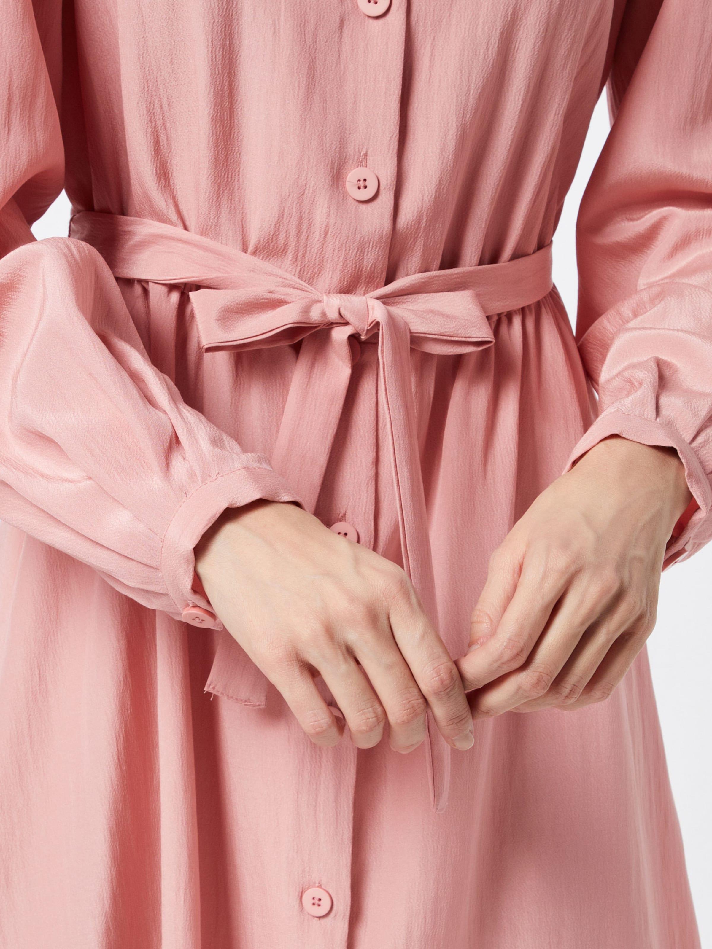 VILA Estélyi ruhák 'VIPADDY L/S DRESS' rózsaszín színben